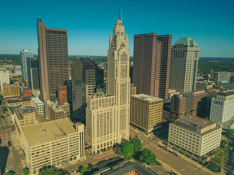 The Columbus skyline.