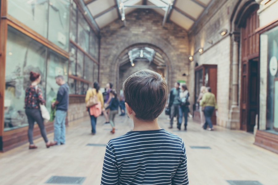 Child at a museum