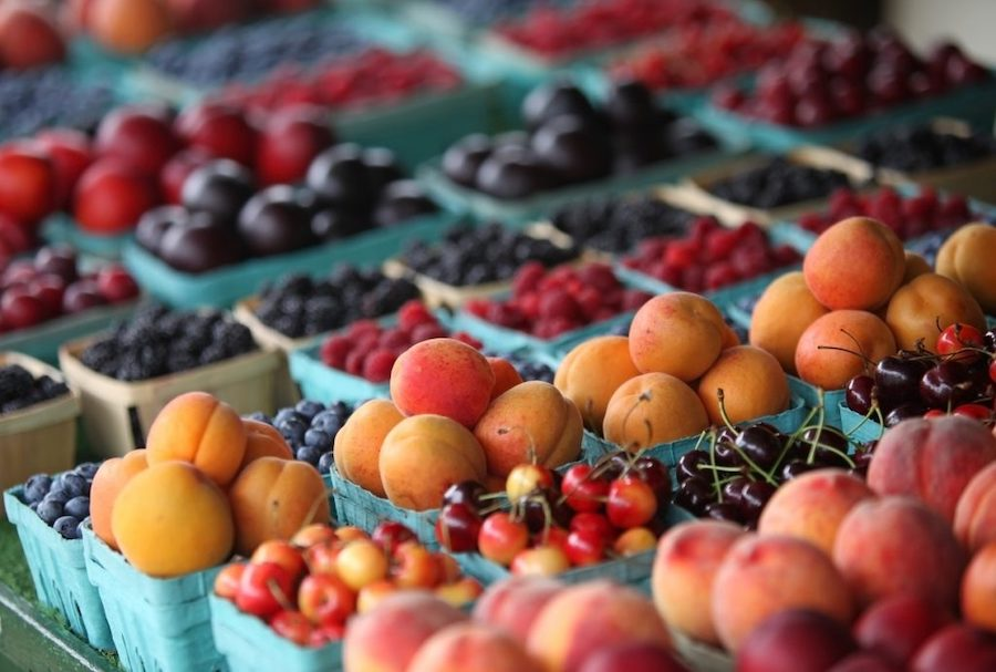 Fresh produce at a market.